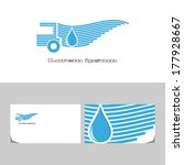 delivery water. icon design... | Shutterstock .eps vector #177928667