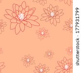 pale seamless pattern with... | Shutterstock . vector #177931799