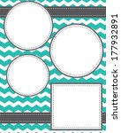 circle and squares template... | Shutterstock .eps vector #177932891