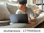 young asian man work form home... | Shutterstock . vector #1779345614