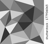 grey triangle background or... | Shutterstock . vector #177936065