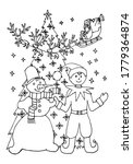 coloring pages. santa claus... | Shutterstock .eps vector #1779364874