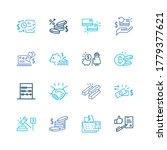 finance icon set and card to...