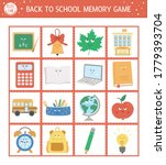 back to school memory game... | Shutterstock .eps vector #1779393704
