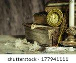 Old Books  Antique Clock ...
