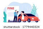 woman and traffic police...   Shutterstock .eps vector #1779440324