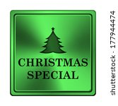 square metallic icon with...   Shutterstock . vector #177944474
