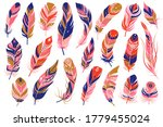tribal feathers. decorative... | Shutterstock .eps vector #1779455024