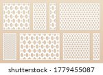 laser cut panel collection. cnc ... | Shutterstock .eps vector #1779455087