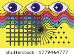 hippie psychedelic 70s style...   Shutterstock .eps vector #1779464777