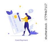 man holding plastic debit or... | Shutterstock .eps vector #1779467117