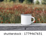close up of metal mug on old... | Shutterstock . vector #1779467651