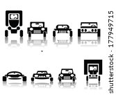 illustration with set of cars...   Shutterstock .eps vector #177949715