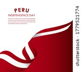 happy peru independence day... | Shutterstock .eps vector #1779521774