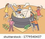 chicken soup  a traditional... | Shutterstock .eps vector #1779540437