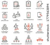 vector set of linear icons... | Shutterstock .eps vector #1779563894
