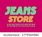 vector jeans emblem jeans store.... | Shutterstock .eps vector #1779564584