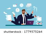 a businessman works with a lot... | Shutterstock .eps vector #1779575264