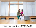 three attractive female... | Shutterstock . vector #177958451