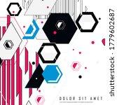 hexagonal structure lattice.... | Shutterstock .eps vector #1779602687