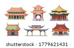 Asian Temples And Palaces Set....