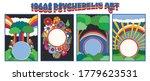 1960s psychedelic hippie art...   Shutterstock .eps vector #1779623531