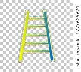 ladder sign illustration. blue...
