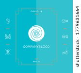 Logo   Two Thin Spirals In A...