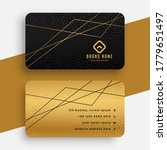 black and gold business card... | Shutterstock .eps vector #1779651497