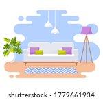 living room interior. modern... | Shutterstock .eps vector #1779661934