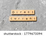 Direct Current Word Written On...