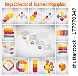 Mega collection infographic template business concept vector illustration