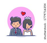 cute couple marriage man and... | Shutterstock .eps vector #1779716354