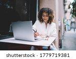 Ethnic Female Freelancer In...