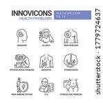 health problems line design... | Shutterstock .eps vector #1779724637