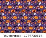 purple halloween illustration... | Shutterstock . vector #1779730814
