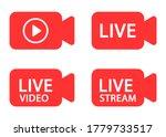 live stream icon set. online...   Shutterstock .eps vector #1779733517
