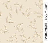 vector tropical khaki leave...   Shutterstock .eps vector #1779740804