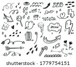 hand drawn abstract scribble... | Shutterstock .eps vector #1779754151