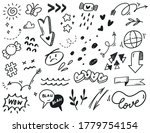 hand drawn abstract scribble... | Shutterstock .eps vector #1779754154