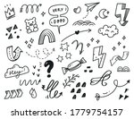 hand drawn abstract scribble... | Shutterstock .eps vector #1779754157