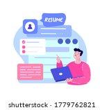 online cv resume creating... | Shutterstock .eps vector #1779762821