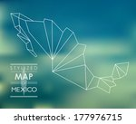 stylized map of mexico. map... | Shutterstock .eps vector #177976715
