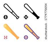 simple baseball icon design in...