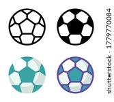 simple soccer ball icon design...