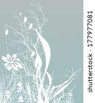 white blade of grass on cyan    Shutterstock . vector #177977081