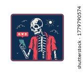 skeleton with smartphone using...   Shutterstock .eps vector #1779790574