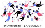 reopen economy after pandemic...   Shutterstock .eps vector #1779800234