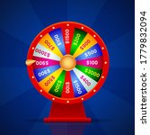 realistic wheel of fortune on... | Shutterstock .eps vector #1779832094