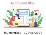 nutritionist online service or... | Shutterstock .eps vector #1779873134